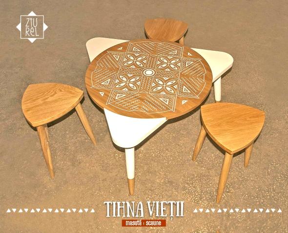 Masa cu motive traditionale - Tihna Vietii