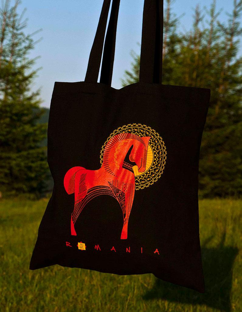 Traista cu motive populare calul solar