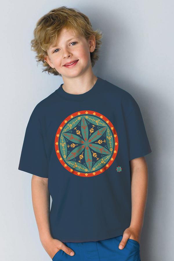Tricou baieti cu floarea vietii - Ziurel
