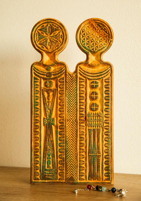 Familia Divina - Figurina lemn