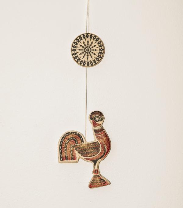 Cocosul-figurina decorativa din lemn