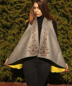 Cardigan motiv floral_fata_ Ziurel